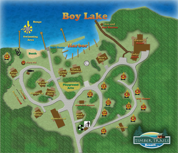 Timber Trails Resort Map